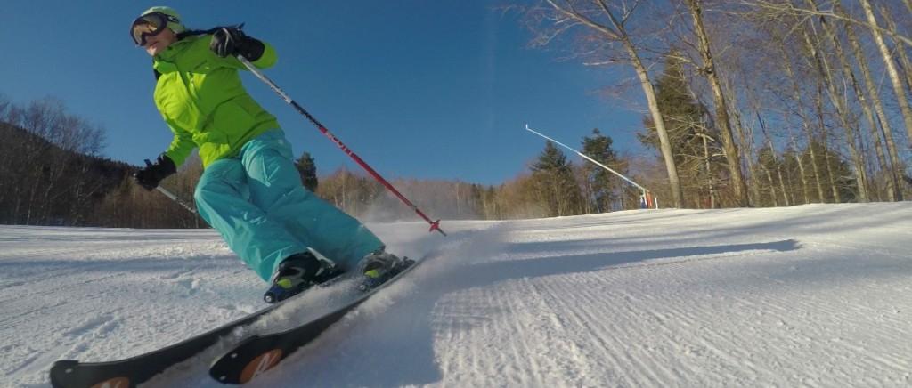 GO Pro Hero 4 120fps shots - NH Ski Video